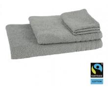 4-delige handdoekenset Fairtrade grijsgroen