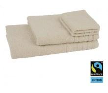 4-delige handdoekenset Fairtrade crème