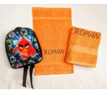 Zwemset Angry Birds (kleur handdoeken naar keuze)