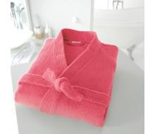 Badjas in badstof met kimonokraag (volwassenen) in grenadinerood maat 42/44 (M)