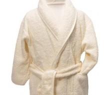 Kinderbadjas badstof ivoor