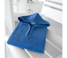 Badponcho koningsblauw