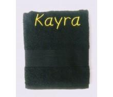 Handdoek (50 cm x 100 cm) Clarysse Viva zwart