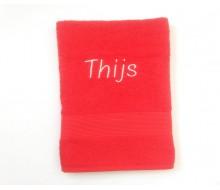 Badhanddoek (140 cm x 70 cm) Clarysse Viva rood