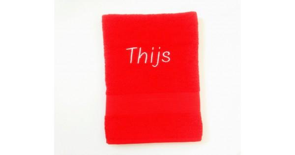 Handdoek (50 cm x 100 cm) Clarysse Viva rood
