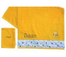 Handdoek Pooh met washandje