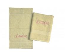 2-delige handdoekenset Jules Clarysse ivoor