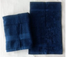 2-delige handdoekenset Jules Clarysse donkerblauw