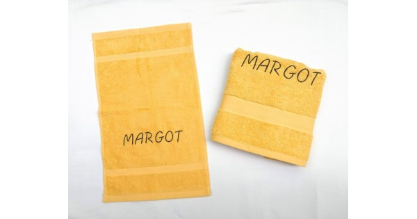 2-delige handdoekenset Jules Clarysse geel