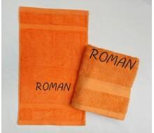 2-delige handdoekenset Jules Clarysse oranje