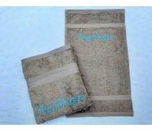 2-delige handdoekenset Jules Clarysse Talis zand