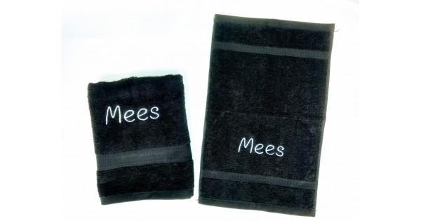 2-delige handdoekenset Jules Clarysse zwart