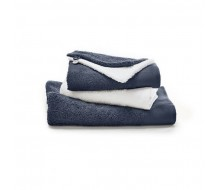5-delige handdoekenset donkergrijs / wit
