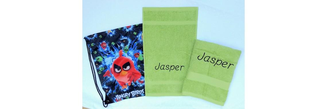 2-delige handdoeken(zwem)set Jules Clarysse limoen