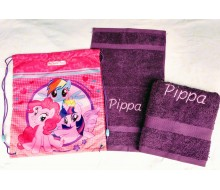 2-delige handdoekenset Jules Clarysse violet