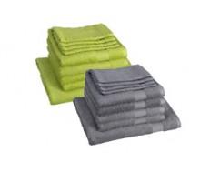 9-delige handdoekenset Santens Emotion groen