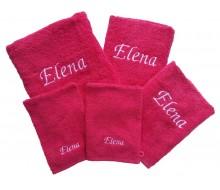 5-delige handdoekenset