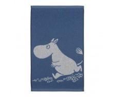 gastendoekje Moomin kobaltblauw - ecru