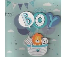 Kaartje HELLO little BOY - 3D