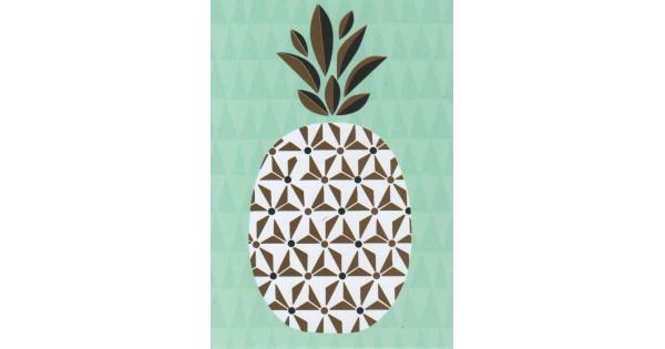 Kaartje ananas neutraal