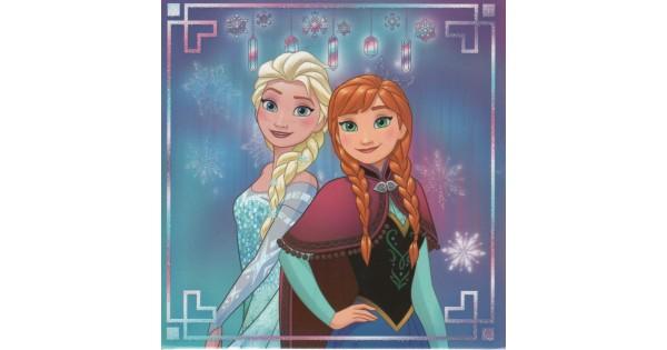 Kaartje Frozen - Anna & Elsa