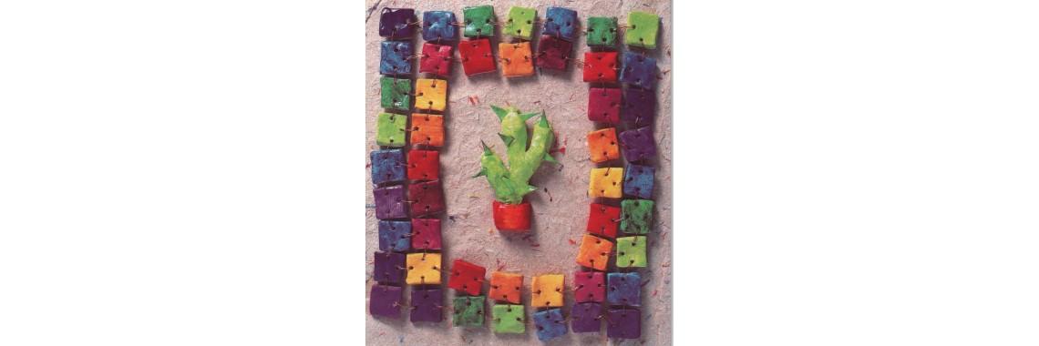 kaartje kleurrijke cactus