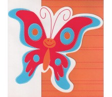 Kaartje met vlinder