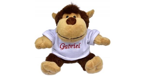 Knuffel aap met T-shirt