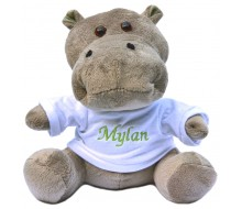 Knuffel nijlpaard met T-shirt