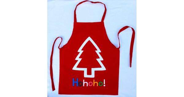 Keukenschort kids kerstboom