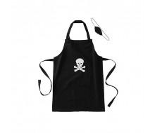 Keukenschort kids met piratenoogje (tot ongeveer 10 jaar)