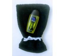 Washandje Clarysse (beschikbaar in 16 kleuren) + mini douchegel Fa men (50 ml - groen)