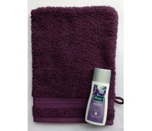 Washandje Santens Tenderness violet + mini Kneipp lavendel douche (30 ml)