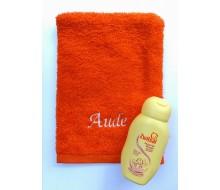 Washandje oranje + Zwitsal mini zeepvrije wasgel (75 ml)