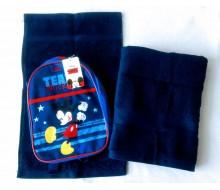 Zwemset met rugzakje Mickey (kleur handdoeken naar keuze)