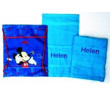 Zwemset Mickey (kleur handdoeken naar keuze)