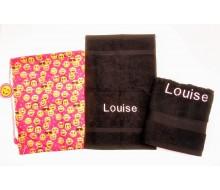 Zwemset Emoji pink (kleur handdoeken naar keuze)