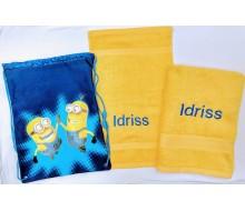 Zwemset Minions (kleur handdoeken naar keuze)