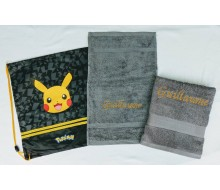 Zwemset Pikachu (kleur handdoeken naar keuze)