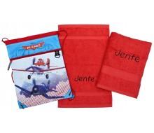 Zwemset Planes (kleur handdoeken naar keuze)