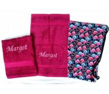 Zwemset Flamingo (kleur handdoeken naar keuze)